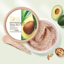 Load image into Gallery viewer, Shea Butter Face Body Scrub Exfoliating Cream Deep Cleansing Pores Acne Treatment Smooth Peach Avocado Whitening Face Wash - My Little Decors.com