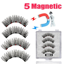 Load image into Gallery viewer, LEKOFO 8D 2 Pairs Magnetic Eyelashes 5 Magne Set Mink Eyelashes Thick faux cils magnetique Natural False Lashes+Tweezers - My Little Decors.com