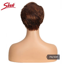Load image into Gallery viewer, Sleek Human Hair Wigs Short Blonde Lace Front Wig For Black Women Short Remy Brazilian Pixie Cut Wig 613 Blonde Lace Part Wigs - My Little Decors.com