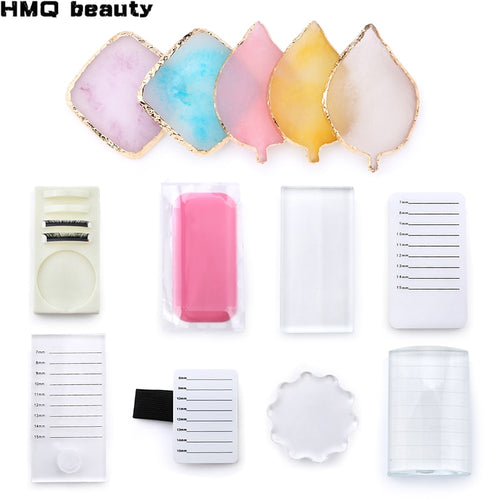 Collection Acrylic False Eyelashes Stand Pad Pallet Lashes Holder with Tick Mark Fake Lashes Extension Essential Tool - My Little Decors.com