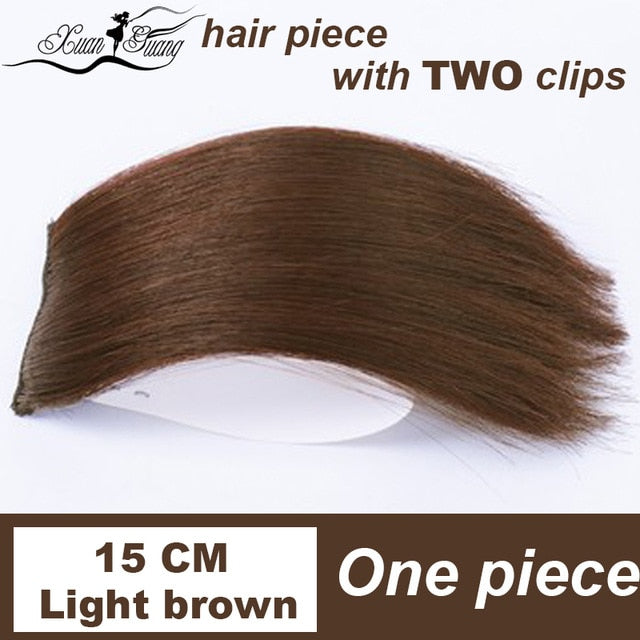 XUANGUANG clips in hair extension for women or man short hair 10-30 cm hair extension 5 sizes and 3 colors for choose - My Little Decors.com