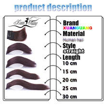 Load image into Gallery viewer, XUANGUANG clips in hair extension for women or man short hair 10-30 cm hair extension 5 sizes and 3 colors for choose - My Little Decors.com