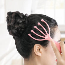 Load image into Gallery viewer, Rake For Head Massage Masazer Do Glowy Scalp Massager Steel Ball Head Massage Relaxation Five Finger Massager For Head - My Little Decors.com