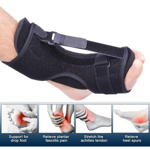 ZITY Adjustable Plantar Fasciitis Night Foot Splint Drop Orthotic Brace Elastic Dorsal Night Splint - My Little Decors.com