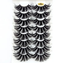 Load image into Gallery viewer, 7/8 Pairs 3D Mink Hair False Eyelashes 25mm Long Lashes Extension Thick Wispy Fluffy Handmade Eye Makeup Tools Women Beauty Tools - My Little Decors.com