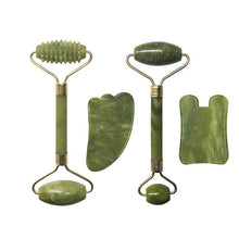 Load image into Gallery viewer, Natural Jade Roller Face Massager Real Stone Gouache Scraper Facial Massager Jade Roller Guasha Massage Board - My Little Decors.com