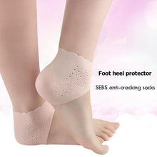 Load image into Gallery viewer, 1Pair Feet Care Socks Silicone Moisturizing Gel Heel Socks Foot Skin Care Protectors Anti cracking Heel Protector Silicone Socks - My Little Decors.com