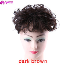 Load image into Gallery viewer, AIYEE 100%Human Hair Wig Curly Wave Toupee For Women Toupee Replacement Systems Remy Hair Wave Full Lace Women Toupee Hairpiece - My Little Decors.com