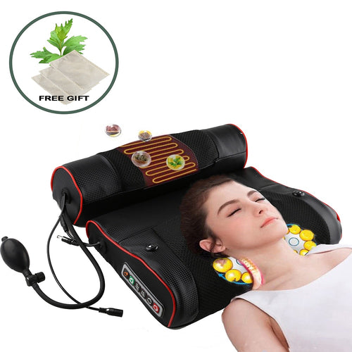 Electric Neck Relaxation Massage Pillow Back Heating Kneading Infrared therapy shiatsu AB Massager - My Little Decors.com