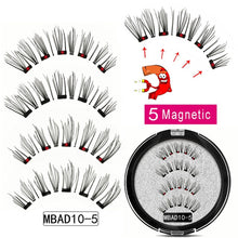 Load image into Gallery viewer, MB MEW 5 Magnets Magnetic Eyelashes With Handmade 3D False Eyelashes For Mink lashes New Faux Cils Magnetique Naturel Tweezers - My Little Decors.com