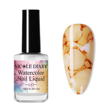 Load image into Gallery viewer, NICOLE DIARY 6ML Watercolor Nail Polish Blooming DIY Nail Gel Decoration Salon Smoke Effect Bubble Varnish Nails Accessories - My Little Decors.com
