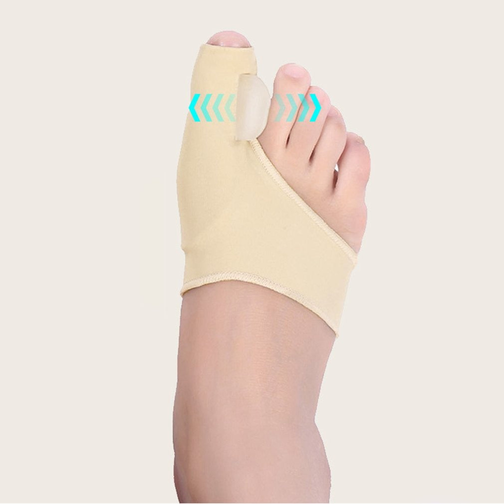 2Pcs/Pair Comfortable Soft Bunion Protector Toe Straightener Toe Separating Silicone Toe Separators Thumb Feet Care Adjuster - My Little Decors.com