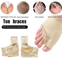 Load image into Gallery viewer, 2Pcs/Pair Comfortable Soft Bunion Protector Toe Straightener Toe Separating Silicone Toe Separators Thumb Feet Care Adjuster - My Little Decors.com