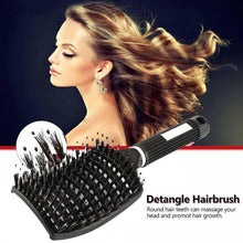 Load image into Gallery viewer, Brosse demelante cheveux crepus Hairdressing Head Massage brushie Comb Brushes For Hair Haarborst Combs Boar Bristle Brush - My Little Decors.com