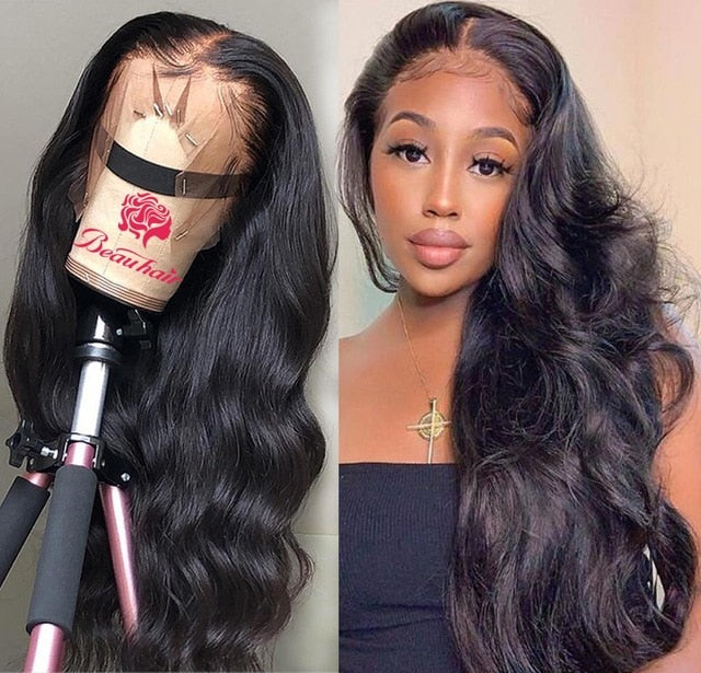 Body Wave Lace Front Wig 13x4 Lace Frontal Human Hair Wig Remy Pre Plucked With Baby Hair 13x4 Lace Closure Wigs For Black Women - My Little Decors.com