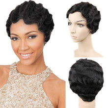 Load image into Gallery viewer, Short Finger Wave Wigs Short Bob Wigs For Woman Short Pixie Cut Wig Brazilian Human Hair Wigs Full Machine Natural Curls Wigs - My Little Decors.com
