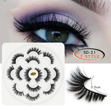 Load image into Gallery viewer, New 7 Pairs Fashion Natural Lengthening Professional Woman 5D Mink Soft Long Natural Thick Makeup Eye Lashes False Eyelashes - My Little Decors.com