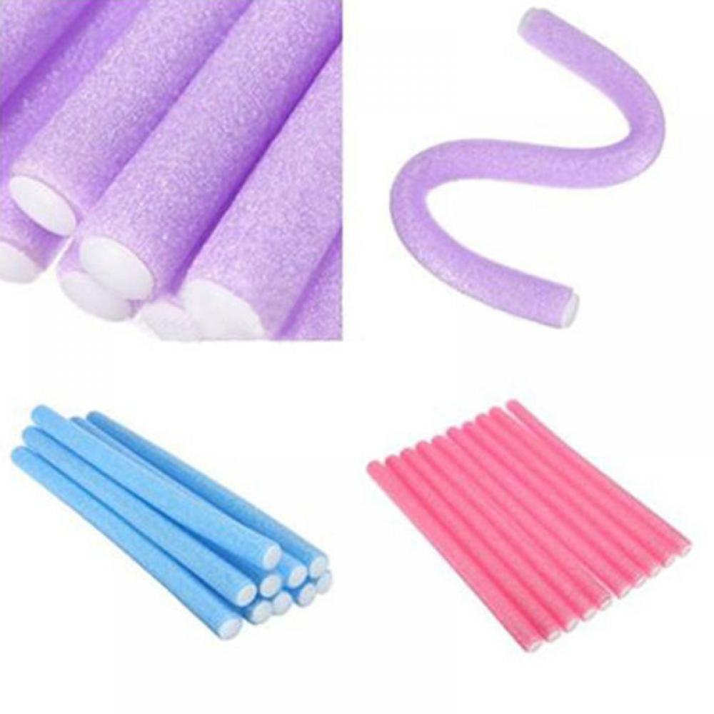 Wholesale 10pcs Lot Curler Makers Soft Foam Bendy Twist Curls DIY Styling Hair Rollers Tool for Women Accessories - My Little Decors.com