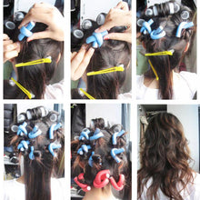 Load image into Gallery viewer, Wholesale 10pcs Lot Curler Makers Soft Foam Bendy Twist Curls DIY Styling Hair Rollers Tool for Women Accessories - My Little Decors.com