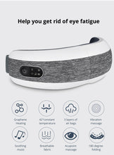 Load image into Gallery viewer, KLASVSA Smart Eye Massager Air Compression Heated Massage For Tired Eyes Dark Circles Remove Massage Relaxation - My Little Decors.com