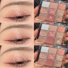 Load image into Gallery viewer, 9 Colors Fashion Eyeshadow Palette Matte Makeup Eye Shadow Powder Metallic Diamond Glitter Eye Make Up Women Cosmetics TSLM2 - My Little Decors.com