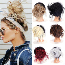 Load image into Gallery viewer, LUPU Messy Chignon Scrunchie Short Straight Synthetic Hair Bun With Hair Bands Updo Hairpiece Heat Resistant For Women - My Little Decors.com