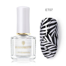 Load image into Gallery viewer, BORN PRETTY 6ml 48 Colors Nail Stamping Polish Nail Art Varnish with Peel Off Nail Latex Black White Colorful Stamp Polish - My Little Decors.com