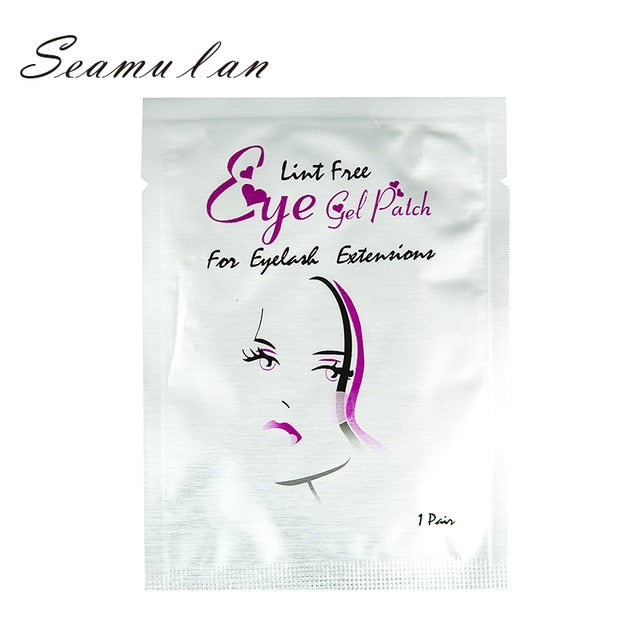 50pairs/Lots Eye Paper Patches False Eyelash Grafted Eyelashes Under Eye Pads Lint Free Stickers Makeup for Eyelash Extension - My Little Decors.com