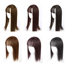 Load image into Gallery viewer, MUMUPI topper Women Natural bangs Long Straight Clip Closure Hair Extension High Temperature Synthetic Wig Clip Female Wig - My Little Decors.com