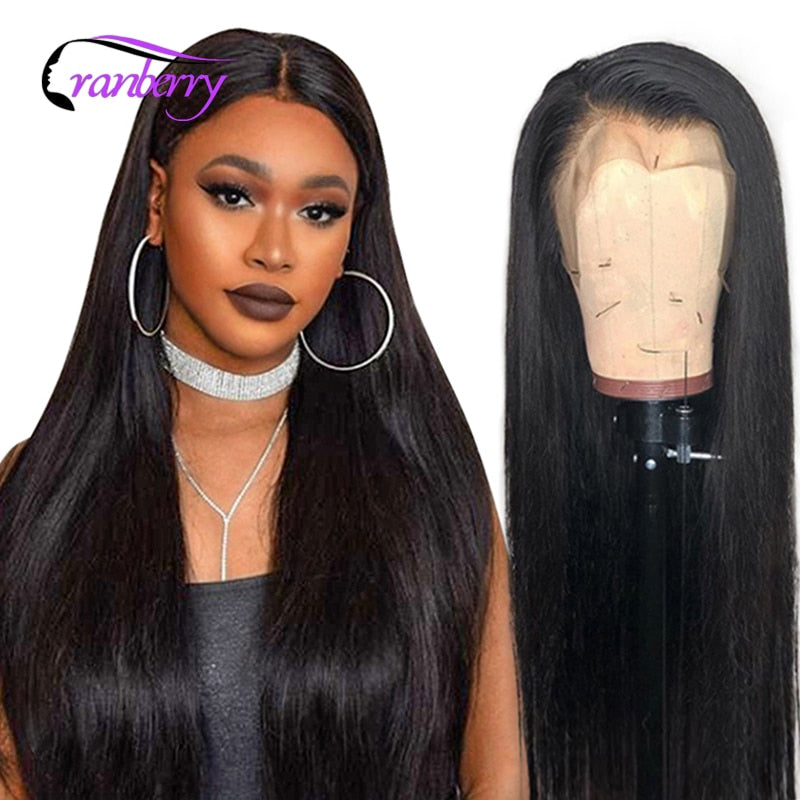 Cranberry Straight Lace Front Human Hair Wigs Pre Plucked Hairline 4X4 Lace Closure Wig 360 Lace Frontal Wig Brazilian Remy Wigs - My Little Decors.com