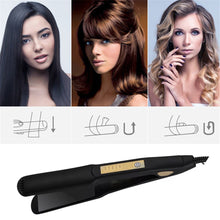 Load image into Gallery viewer, Hair Straightener 4 Gear Adjustment Temperature Hair Straightening Tourmaline Ceramic Ionic Flat Iron Professional Styling Tool - My Little Decors.com