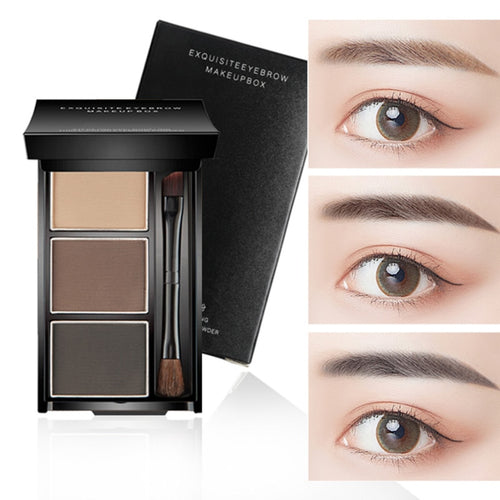 New 3D Three-dimensional Effect Eyebrow Powder Waterproof Non-blooming Natural 3 Colors Highlight Nose Shadow Eye Cosmetic TSLM1 - My Little Decors.com