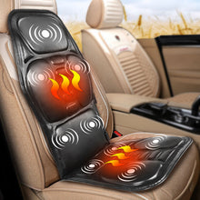 Load image into Gallery viewer, KLASVSA Electric Portable Heating Vibrating Back Massager Chair In Cushion Car Home Office Lumbar Neck Mattress Pain Relief - My Little Decors.com