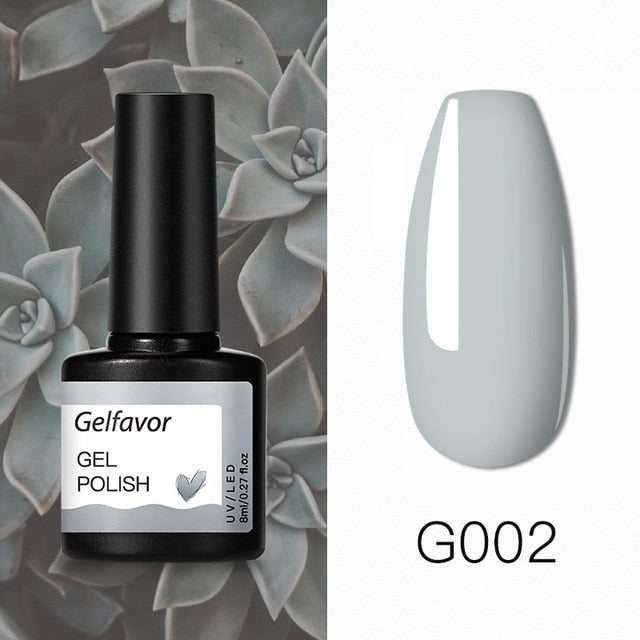 Gelfavor Nail Gel Polish Semi-permanent UV LED Lamp Glitter For Manicure Set Nail Art Nail Base Top Coat Gel lacquer Varnishes - My Little Decors.com