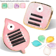 Load image into Gallery viewer, Collection Acrylic False Eyelashes Stand Pad Pallet Lashes Holder with Tick Mark Fake Lashes Extension Essential Tool - My Little Decors.com