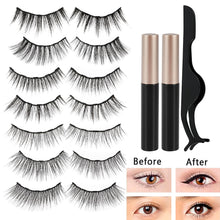 Load image into Gallery viewer, 7pairs 3D Mink False Eyelash Magnetic Eyelashes Magnet Eyeliner Fake Eyelash Waterproof Liquid Long Lasting lash Makeup - My Little Decors.com