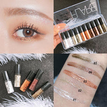 Load image into Gallery viewer, Waterproof Pearle Glitter Eyeshadow Liquid Pigment Lasting Non-smudged Women Girl Charm Eye Makeup Cosmetic 1PC TSLM1 - My Little Decors.com