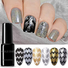 Load image into Gallery viewer, NICOLE DIARY Nail Art Stamping Polish Gold Silver Black White Nail Art Plate Printing Polish Varnish Nail Art Decoration - My Little Decors.com