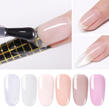 Load image into Gallery viewer, LILYCUTE 5ml Quick Extension Gel White Clear Acrylic Poly UV Gel Soak Off Crystal Jelly Finger Building Gel Tips - My Little Decors.com