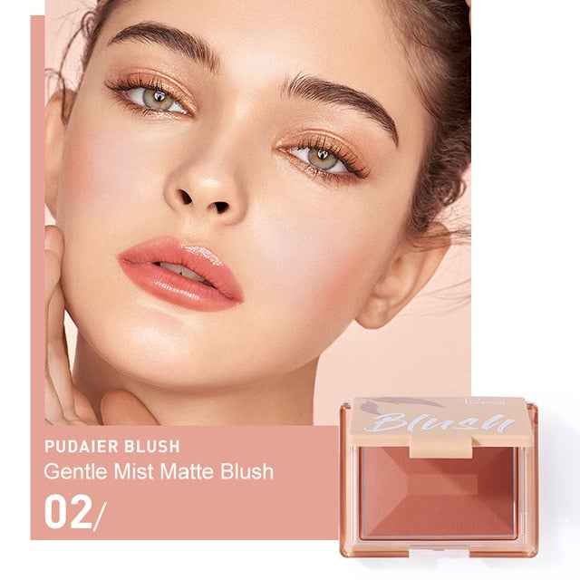 Blush Cosmetics Face Mineral Pigment Blusher Mist Matte Cheek Blusher Powder Palettes Long Lasting Natural Makeup Rouge TSLM3 - My Little Decors.com