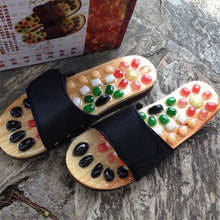 Load image into Gallery viewer, Massage Shoes Mens Slides Cobblestone Accupressure Foot Indoor Chinese Medicine Pedicure Acupoint Healthcare Flat Slippers - My Little Decors.com