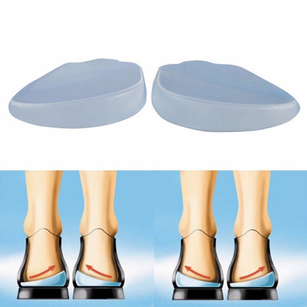 1Pair Silicone Support Pad For High Heels Flat Feet Orthotics Orthopedic Insoles Corrector For Shoes Woman Feet Care Tools - My Little Decors.com