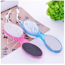Load image into Gallery viewer, 4 in 1 Foot Care Callus Brush Grinding Feet Stone Scrubber Pedicure Exfoliate Remover Two sides Cleaning dust dead skin - My Little Decors.com
