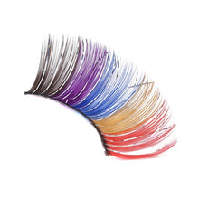 Load image into Gallery viewer, 1Pair Colorful Feathers Glitter Makeup Eyes Lash New Exaggeration Beauty Stage False Eyelashes Women Party Make Up Maquiagem - My Little Decors.com