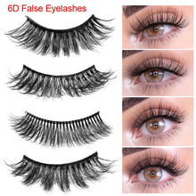 Load image into Gallery viewer, 6D Magnetic False Eyelashes Women Eyes Makeup Black Eyelash Make up Cosmetic Tool Black Fake Eye Lashes Thick Lash 1 Pair/box - My Little Decors.com