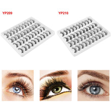 Load image into Gallery viewer, 20Pair Natural False Eyelashes Reusable Mink Hair Thick Eye Lashes Handmade 3D Crisscross Eyelashes Women Eye Makeup Tools - My Little Decors.com