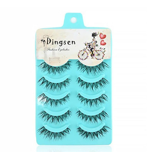 5 Pairs New Fashion Women Soft Natural Long Cross Fake Eye Lashes Handmade Thick False Eyelashes Extension Beauty Makeup Tools - My Little Decors.com