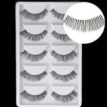 Load image into Gallery viewer, 5 Pairs New Fashion Women Soft Natural Long Cross Fake Eye Lashes Handmade Thick False Eyelashes Extension Beauty Makeup - My Little Decors.com