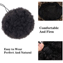 Load image into Gallery viewer, LUPU Synthetic Hair Bun Puff Afro Kinky Curly Chignon Drawstring Short Ponytail High Temperature Fiber For Women - My Little Decors.com