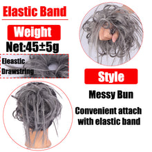Load image into Gallery viewer, AOSI Messy Scrunchie Chignon Hair Bun Straight Elastic Band Updo Hairpiece Synthetic Hair Chignon Hair Extension For Women - My Little Decors.com